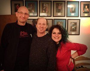 Adrian Belew, Julie Slick and me